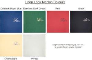 linen look napkin colors