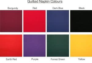 quilted napkin colors